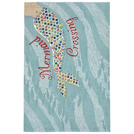 "Liora Manne Mermaid Crossing Rug - Water - 42"" x 66"""