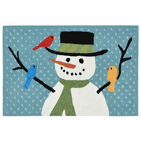 "Liora Manne Snowman And Friends Rug - 30"" x 48"""