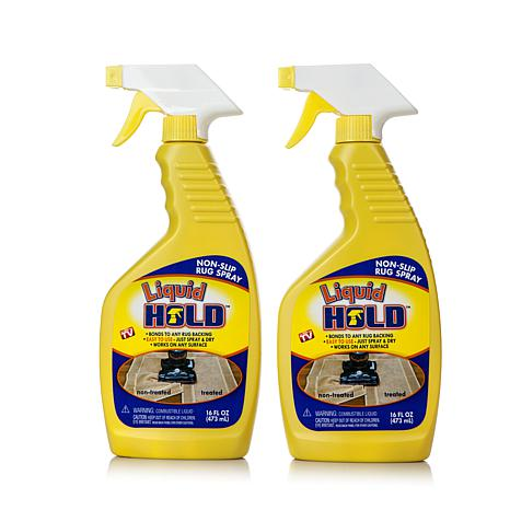 Liquid Hold 2-pack Nonstick Grip and Stay Rug Spray