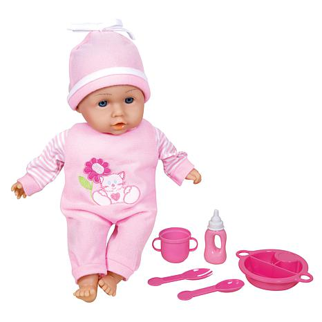 "Lissi Doll Talking 13"" Baby Doll with Feeding Accessories"