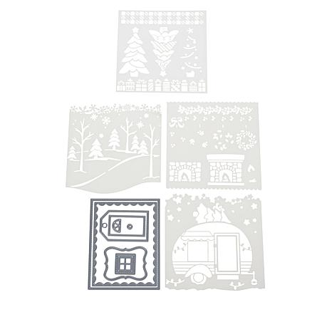 Little Darlings Holiday Cheer Create-A-Scene Stencils and Dies