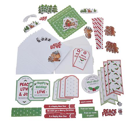 Little Darlings Holly Jolly Christmas Card Kit