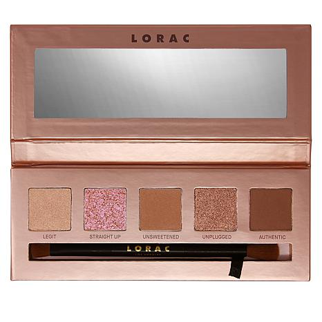 LORAC Unfiltered Unzipped Eyeshadow Palette with Brush