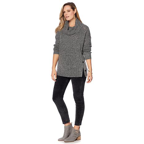 Lucky Brand Alyssa Side-Button Sweater - Plus