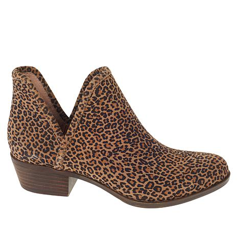 Lucky Brand Baley2 Leopard-Print Suede