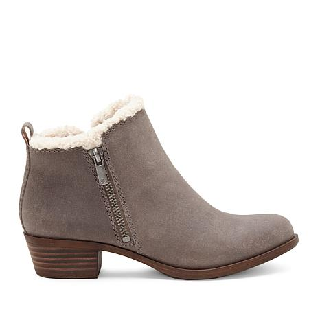 detailing 80a4c acc4e Lucky Brand Baselsher Leather Double-Zipper Ankle Bootie