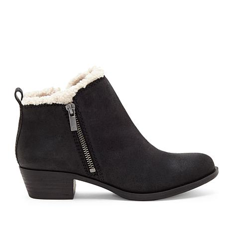 Lucky Brand Baselsher Leather Double-Zipper Ankle Bootie