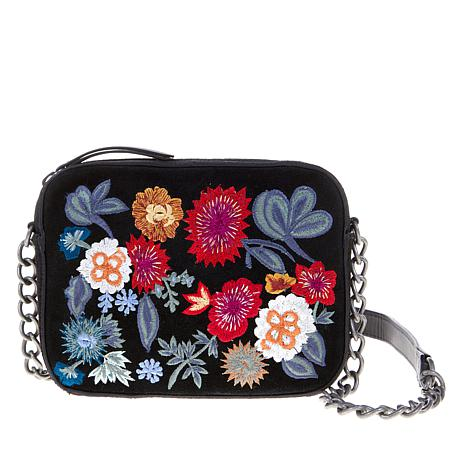Lucky Brand SuperBloom Suede Embroidered Crossbody