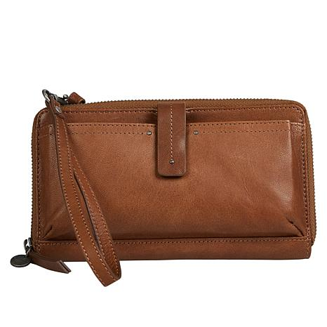 Lucky Carp Leather Crossbody Wallet