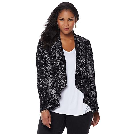 LYSSE Cascade Stretch Ponte Cardigan - Plus