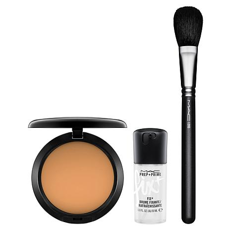 MAC Studio Fix Powder Plus Foundation & Brush Set w/Mini MAC FixPlus