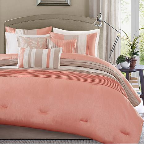 Madison Park Amherst 7-piece Coral Comforter Set - California King