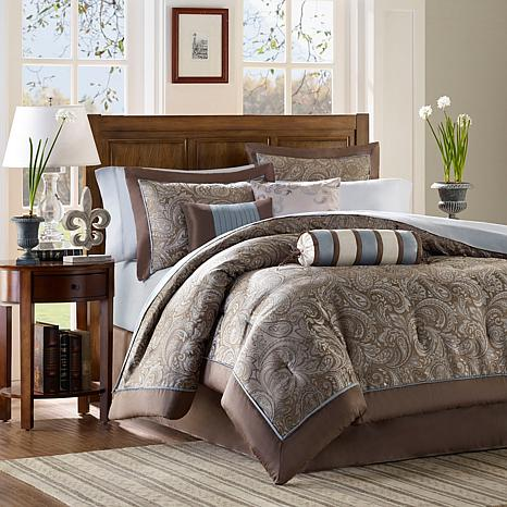 2e412cc4bb Madison Park Aubrey Comforter Set King Blue - 7198125