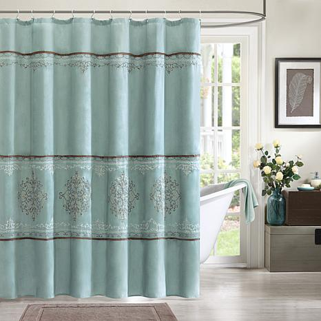 Madison Park Brussel Polyester Shower Curtain - Blue