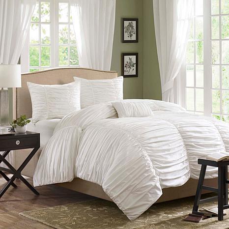 Madison Park Delancey Comforter Set Twin White