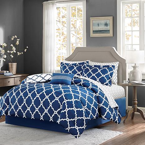 Madison Park Essentials Merritt 9-Piece Reversible Comforter and Sh...