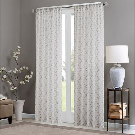 """Madison Park Irina Diamond Sheer Curtain - 50"""" x 84"""""""