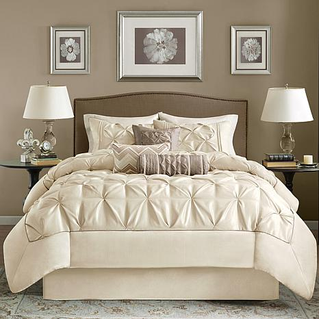 bedding lush decor comforters com king comforter set sets piece beige amazon belle tan ivory queen