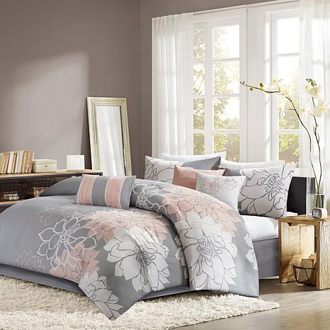 Madison Park Lola Comforter Set California King Gray Yellow