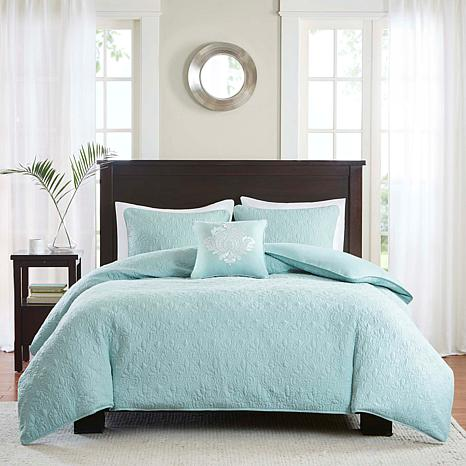 Madison Park Quebec 4pc Seafoam 2-in-1 Duvet Set - F/Q