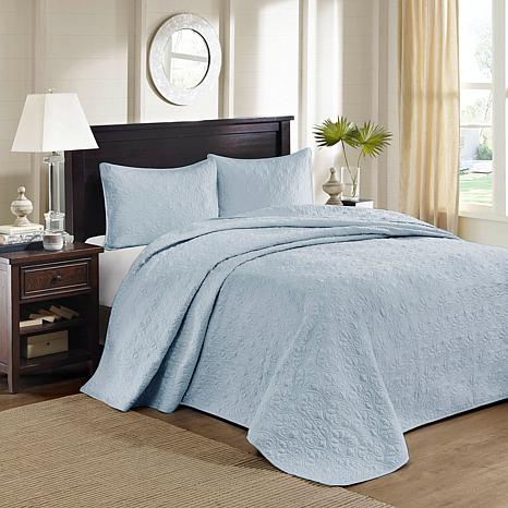 Madison Park Quebec King Quilted Bedspread Set - Blue