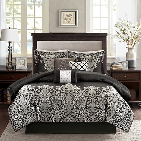 Madison Park Vanessa Black 7 Piece Comforter Set