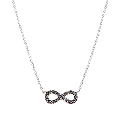 "Marcasite Infinity-Design Drop 13"" Choker Necklace"