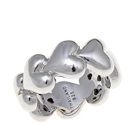 "Margo Manhattan ""Liquid Hearts"" Band Ring"
