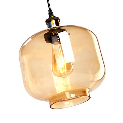 Marion Colored Glass Pendant Lamp Amber 8431677 Hsn