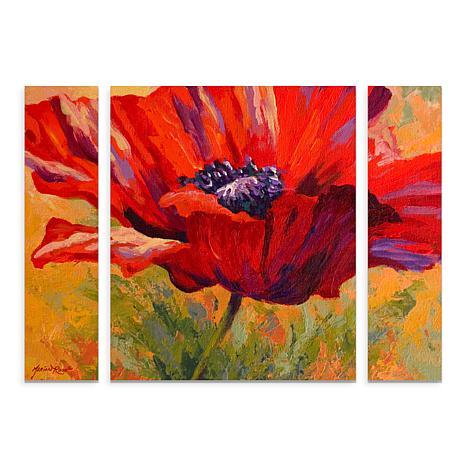 """Marion Rose """"Red Poppy II"""" Multi-Panel Art - 24"""" x 32"""""""