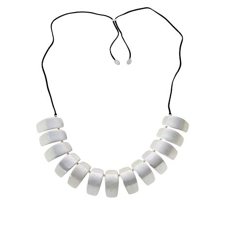 """MarlaWynne 55"""" Concave Bar Station Necklace"""