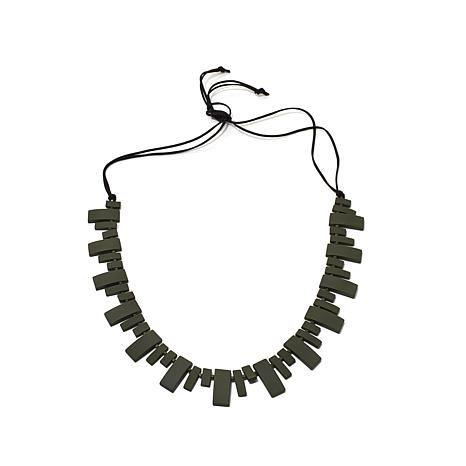 MarlaWynne Beaded Rubber Resin Piano Necklace