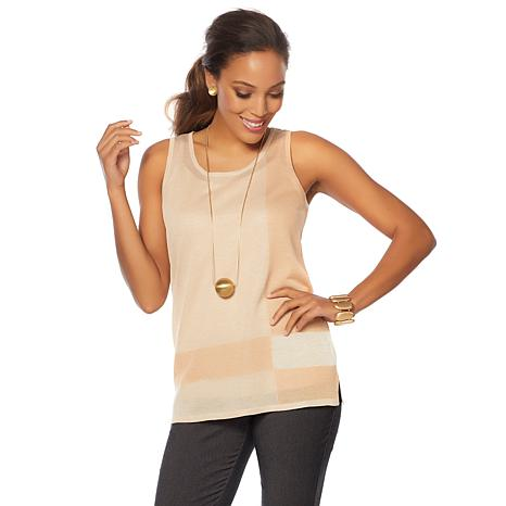MarlaWynne Colorblock Sweater Tank