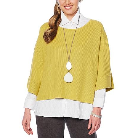 MarlaWynne Ribbed Popover with Cuff