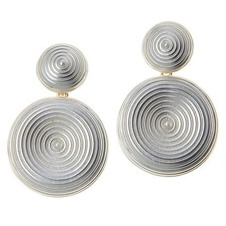 MarlaWynne Starry Night Spiral Drop Earrings