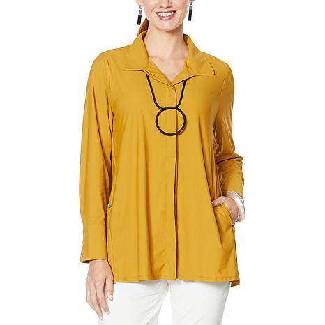MarlaWynne Stretch Tech Shirt Jacket