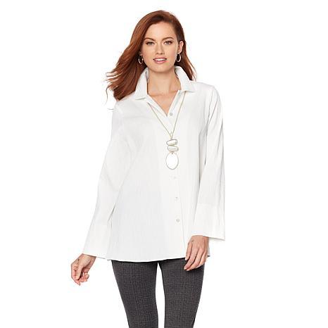 MarlaWynne Textured Easy Shirt