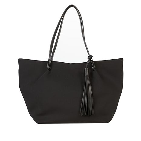 MarlaWynne Two-Way Tote with Tassel