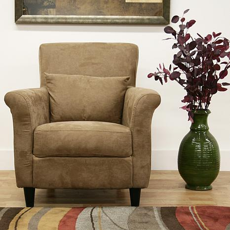 Tan Microfiber Club Chair 6439736 HSN