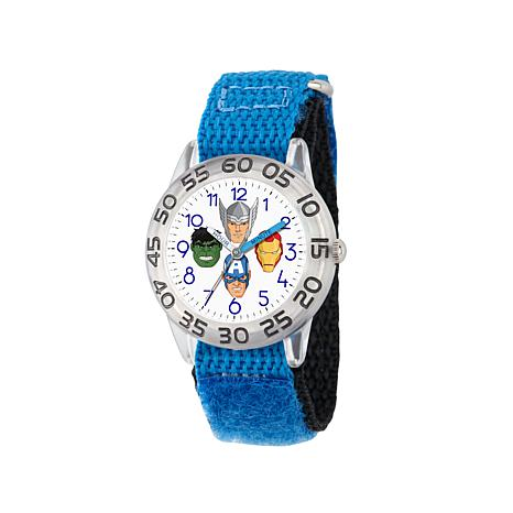 Marvel Avengers Kid's Time-Teacher Watch with Blue Strap