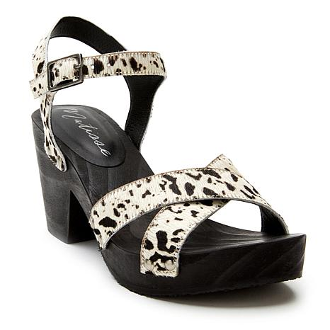 Matisse Jump In Printed Leather or Cow Hair Sandal