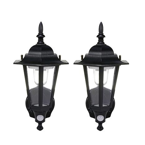 Maxsa Motion-Activated Outdoor LED Wall Sconce 2-pack