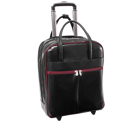 McKlein Volo Leather Laptop Overnight Bag