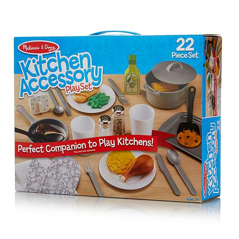 Melissa Doug Chef S Play Kitchen With Accessory Set Hsn