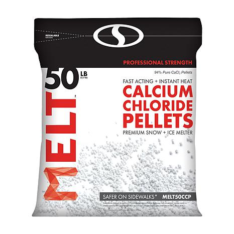 MELT 50-pound Resealable Bag Calcium Chloride Crystals Ice Melter