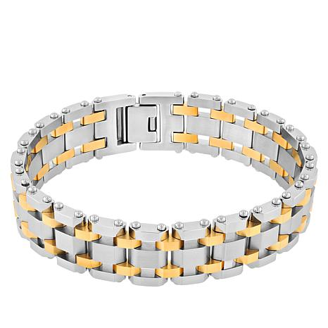 Men's 2-tone Stainless Steel Classic Watch Link Bracelet