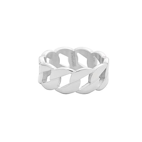 Men's Stainless Steel Fancy Link Band Ring