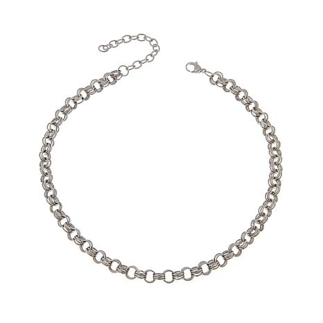"Men's Stainless Steel Multi Circle Link 18"" Necklace"