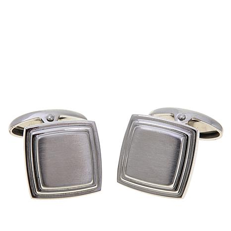 Men's Stainless Steel Square Cuff Links