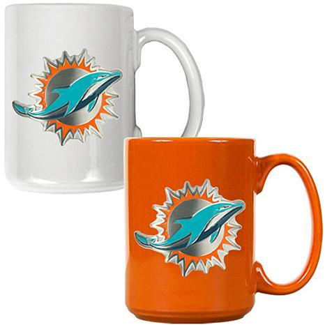 Miami Dolphins 2pc Coffee Mug Set